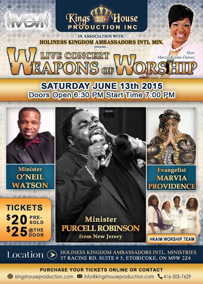 """WEAPONS OF WORSHIP"" CONCERT"